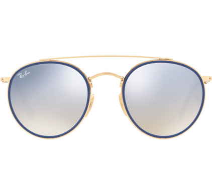 Ray-Ban Round Double Bridge RB3647N Gold / Gradient Brown Mirror Silver