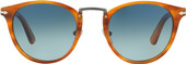 Persol PO3108S Striped Brown / Blue Gradient Polarized Lens