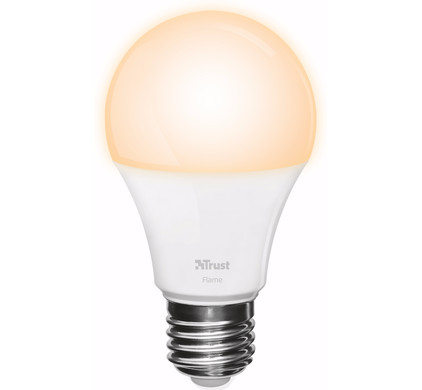 Trust Smart Home Dimbare E27 Led Lamp Flame Wit