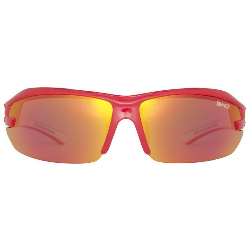 Dagaanbieding: Sinner Speed Shiny Red/ Red, Orange & Clear Lenzen