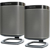 SONOS PLAY:1 Duo Pack Zwart + Flexson PLAY:1 Tafelstandaards