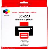 Huismerk LC-223 4-Kleuren Pack voor Brother printers