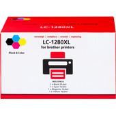 Huismerk LC-1280 XL 4-Kleuren Pack voor Brother printers (LC-1280XLVALBP)