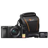 Starterskit - Sony Alpha A6000 Zwart + 16-50mm + Geheugenkaart + Tas + Extra accu