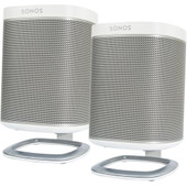 SONOS PLAY:1 Duo Pack Wit + Flexson PLAY:1 Tafelstandaards