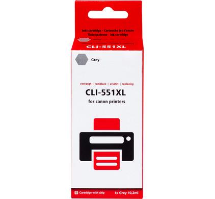 Huismerk CLI-551 XL Grijs voor Canon printers (6447B001)