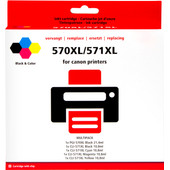Huismerk PGI-570/CLI-571 XL 5-Kleuren voor Canon printers (0372C004)