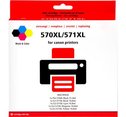 Huismerk PGI-570/CLI-571 5-Kleuren voor Canon printers (0372C004)