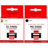 Huismerk PG-545/CL-546 Cartridge 4-Kleuren XL voor Canon printers