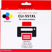 Huismerk CLI-551XL 4-Kleuren Pack voor Canon printers (6509B009)