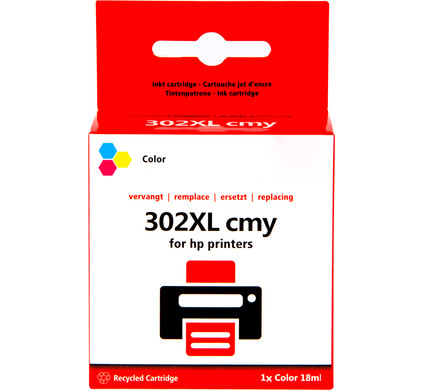 Huismerk 302 3-Kleuren XL voor HP printers (F6U67AE)