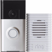 Ring Video Deurbel Grijs + Ring Chime Wit
