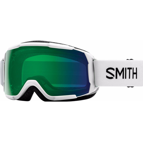 Smith Grom Junior White + Everyday Green Mirror Lens