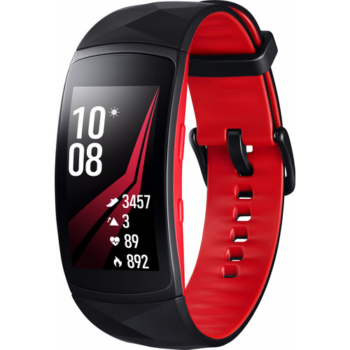Samsung Gear Fit 2 Pro Zwart/Rood S NL