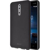 Azuri Flexible Sand Nokia 8 Back Cover Zwart