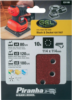 Black & Decker Schuurpapier KA400 4xK80, 3xK120, 4xK180
