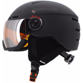 Brunotti Oberon 4 Unisex Black + Orange Mirror Vizier (59 - 61 cm)