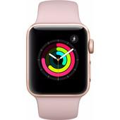c7aaee9a3c6 Apple Watch Series 3 38mm Goud Aluminium/Roze Sportband
