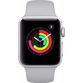 Apple Watch Series 3 38mm Zilver Aluminium/Grijze Sportband