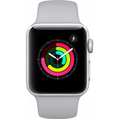 Apple Watch Series 3 42mm Zilver Aluminium/Grijze Sportband