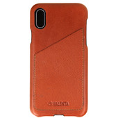Valenta Classic Luxe Apple iPhone X Back Cover Bruin