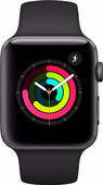 Apple Watch Series 3 42mm Space Grey Aluminium/Zwarte Sportband