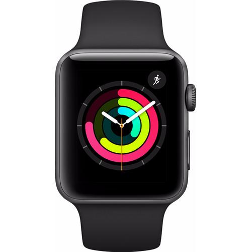 Apple Watch Series 3 38mm Space Grey Aluminium/Zwarte Sportb