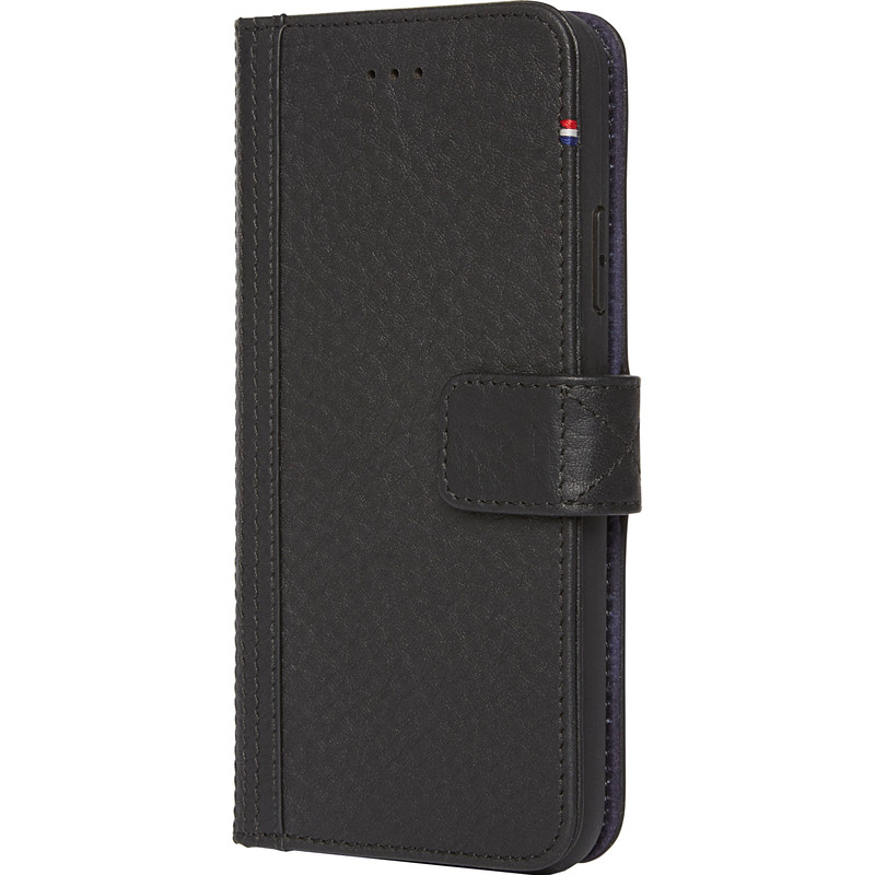 Decoded Leather Wallet Apple iPhone X Book Case Zwart