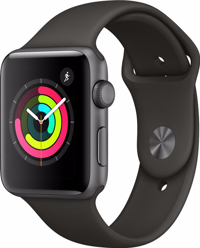 Apple Watch Series 3 42mm Space Aluminium/Grijze Sportband online kopen