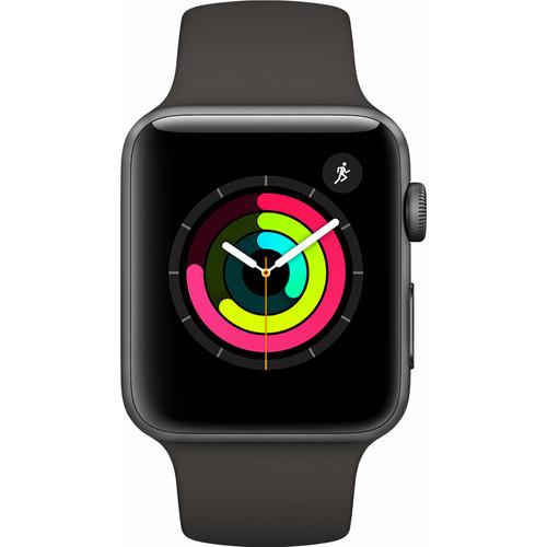 Apple Watch Series 3 42mm Space Grey Aluminium/Grijs