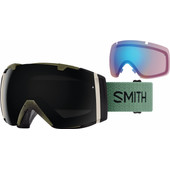 Smith I/O Olive + Sun Black Mirror & Storm Rose Flash Lenzen