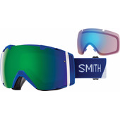 Smith I/O Klein Blue Split + Sun Green Mirror & Storm Rose Flash Lenzen