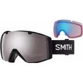 Smith I/O Black + Sun Platinum Mirror & Storm Rose Flash Lenzen