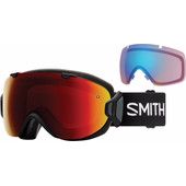 Smith I/O S Black + Sun Red Mirror & Storm Rose Flash Lenzen