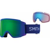 Smith Squad XL Klein Blue Split + Sun Green Mirror & Storm Rose Flash Lenzen