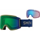 Smith Squad XL Navy Camo Split + Everyday Green Mirror & Storm Rose Flash Lenzen