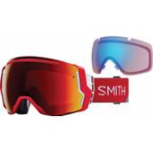 Smith I/O 7 Fire Split + Sun Red Mirror & Storm Rose Flash Lenzen