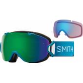 Smith I/O S Mineral Split + Sun Green Mirror & Storm Rose Flash Lenzen