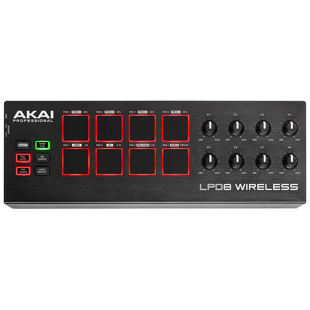AKAI LPD8 Wireless USB MIDI controller