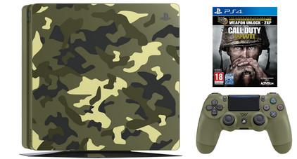Sony PlayStation 4 Slim 1 TB COD WWII Camo Bundel