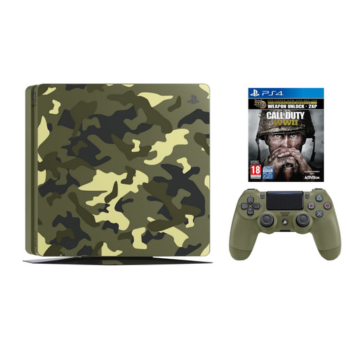 Sony PlayStation 4 Slim 1 TB COD WWII Camo Bundel