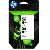HP 56 Cartridge Zwart (C9502AE)