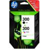 HP 300 Zwart + Combo Pack 3-Kleuren