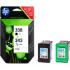 HP 338/343 Cartridge Zwart + Combo Pack