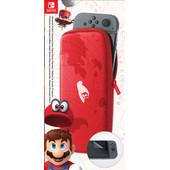 Nintendo Switch Travel Case Mario Odyssey Rood