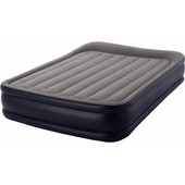Intex Deluxe Pillow Rest Airbed Queen Dark Grey