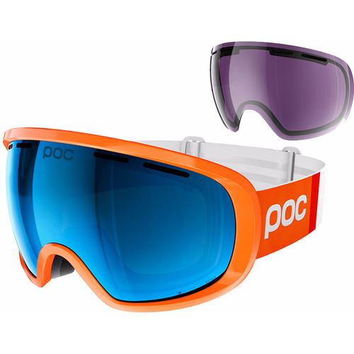 POC Fovea Clarity Comp Zink Orange + Spektris Blue Lens