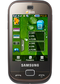 Samsung B5722 DualSim Dark Brown