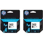HP 302 Cartridge Zwart Duo Pack