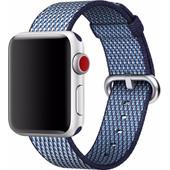 Apple Apple Watch 38mm Nylon Woven Check Horlogeband Blauw